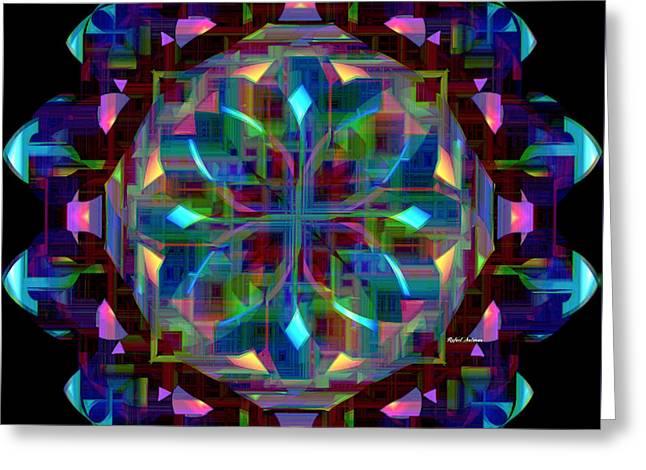 Mandala 9735 Greeting Card by Rafael Salazar