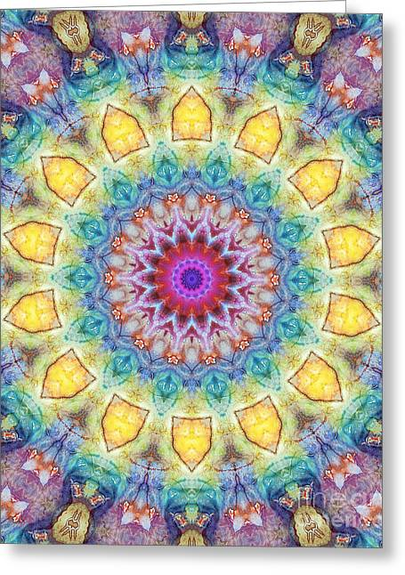Mandala Abstract - Floral Abstract No. 02 Greeting Card by Dirk Czarnota