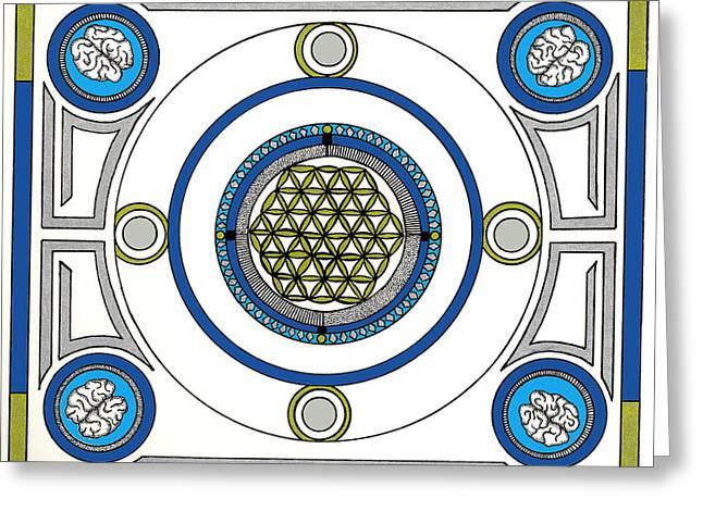 Mandala Anese Greeting Card by J P Lambert