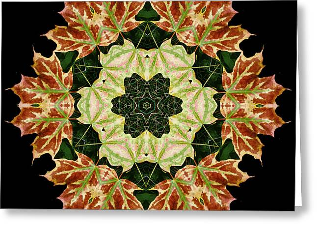 Mandala Autumn Star Greeting Card