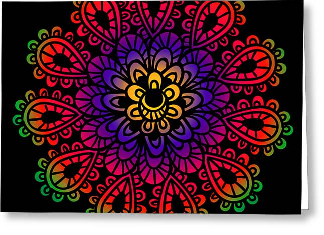 Mandala By Lamplight Greeting Card