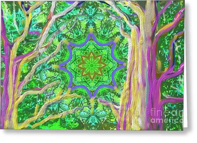 Mandala Forest Greeting Card