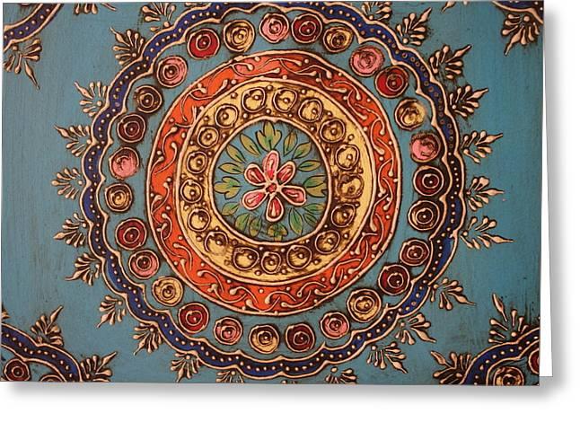Mandala From India Greeting Card