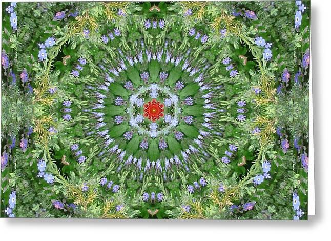 Mandala July 16 Greeting Card by Allen Rybo
