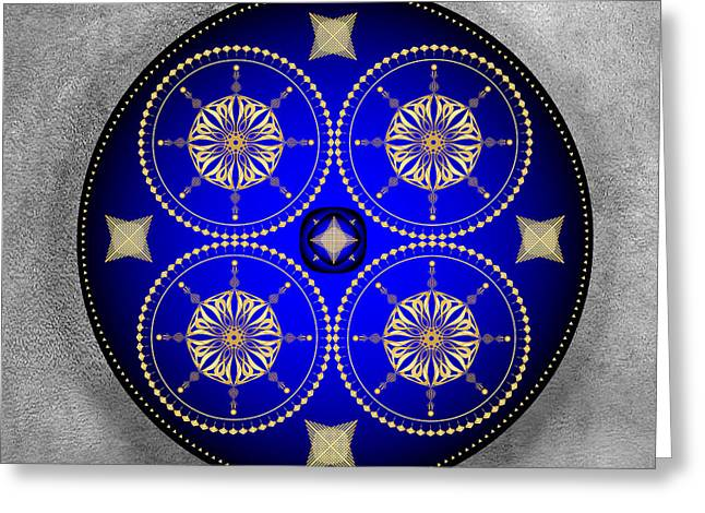Metaphysics Digital Greeting Cards - Mandala No. 59 Greeting Card by Alan Bennington