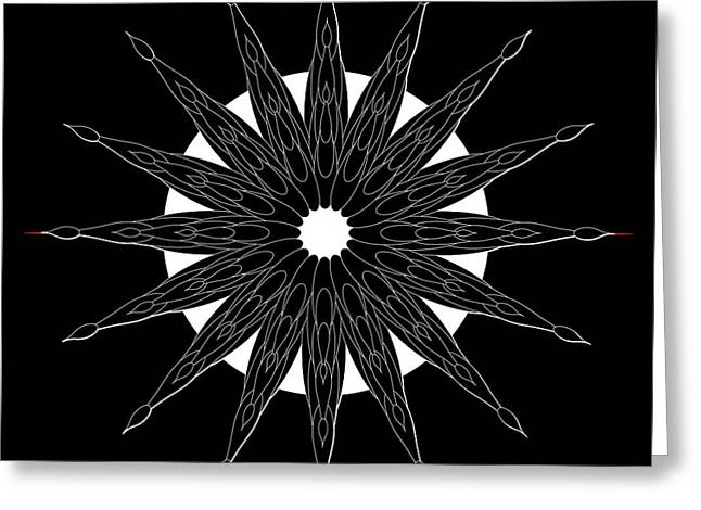Metaphysics Digital Greeting Cards - Mandala No. 86 Greeting Card by Alan Bennington