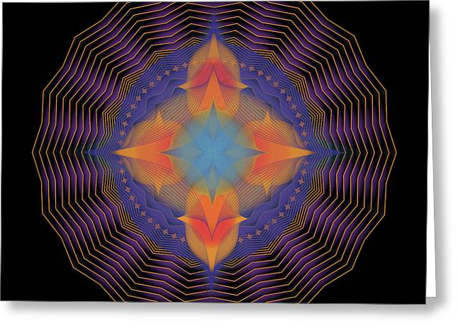 Metaphysics Digital Greeting Cards - Mandala No. 87 Greeting Card by Alan Bennington
