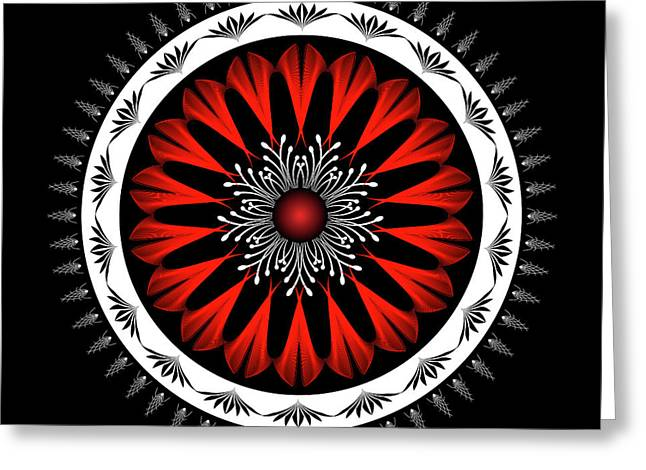 Metaphysics Digital Greeting Cards - Mandala No. 98 Greeting Card by Alan Bennington