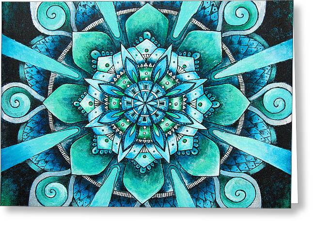 Mandala Of Depth Greeting Card