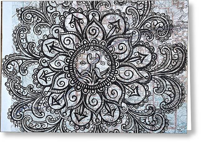 Mandala Of Routine Maintenance  Greeting Card
