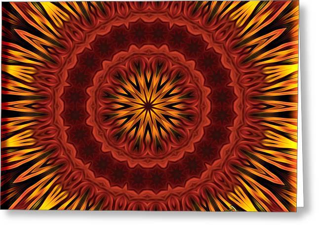Mandala Of Surya The Sun God - Spiritual Art By Giada Rossi Greeting Card by Giada Rossi