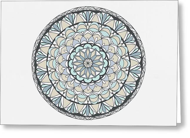 Mandala Patterns Abstract Art Greeting Card by Wall Art Prints