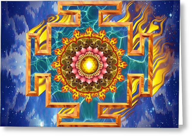 Mandala Shiva Greeting Card by Mark Myers