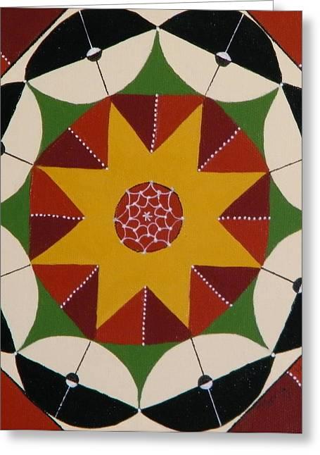 Mandala Greeting Card by Terry Honstead