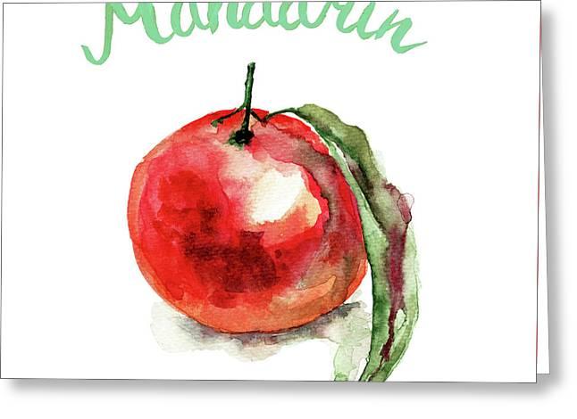 Mandarin Fruits Greeting Card