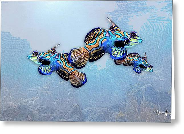 Mandarin Gobies Greeting Card by Russ Harris