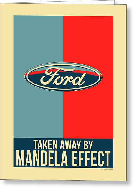 Mandela Effect - Ford Logo Greeting Card