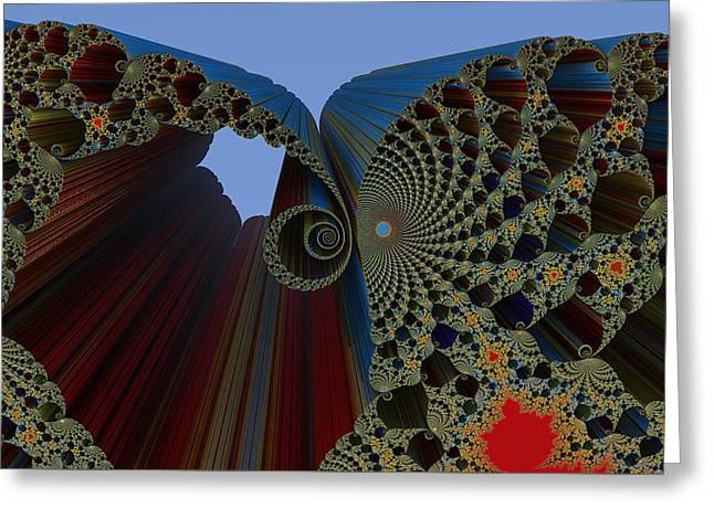 Mandelbrot Madness Greeting Card by Konstantinos Goytzamanis