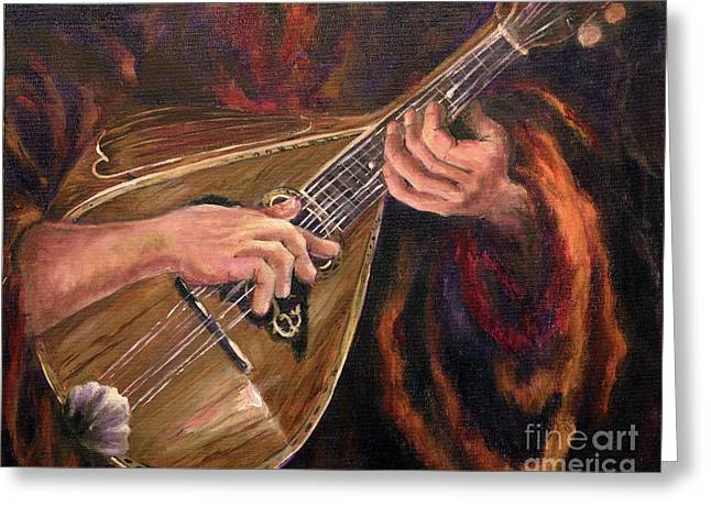 Mandolin Greeting Card by Deborah Smith