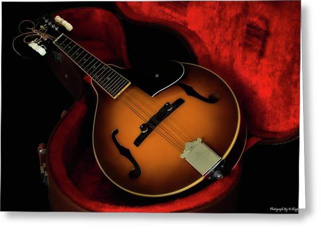 Mandolin Guitar 66661 Greeting Card