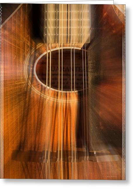 Mandolin Sound Explosion Greeting Card by Mick Anderson