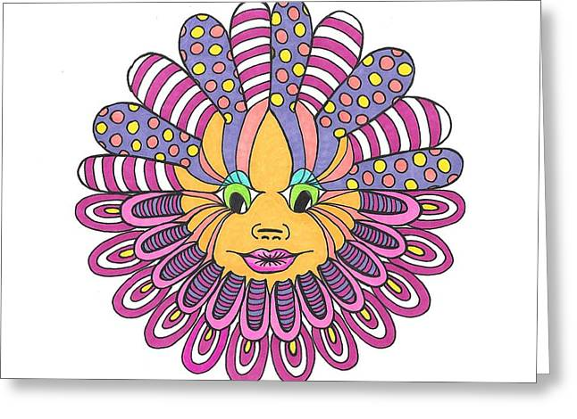 Mandy Flower Greeting Card