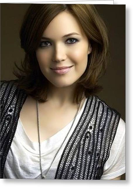 Mandy Moore Actress Brunette Smile 45114 300x450 Greeting Card