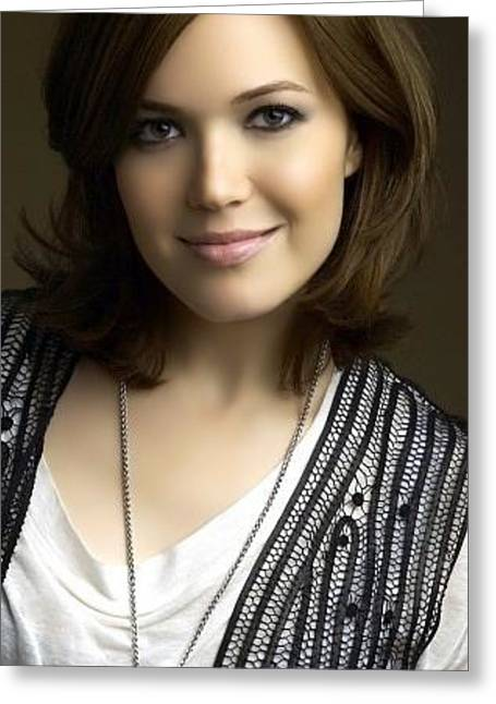 Mandy Moore Actress Brunette Smile 45114 300x532 Greeting Card