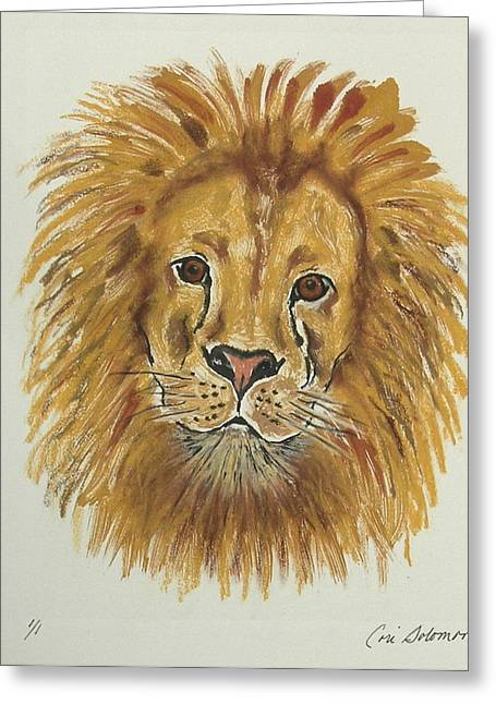 Hand Pulled Print Greeting Cards - Mane Attraction Greeting Card by Cori Solomon