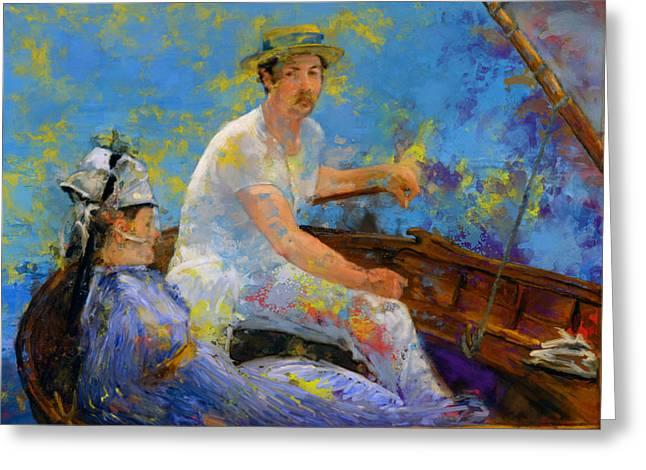 Manet Boating Greeting Card