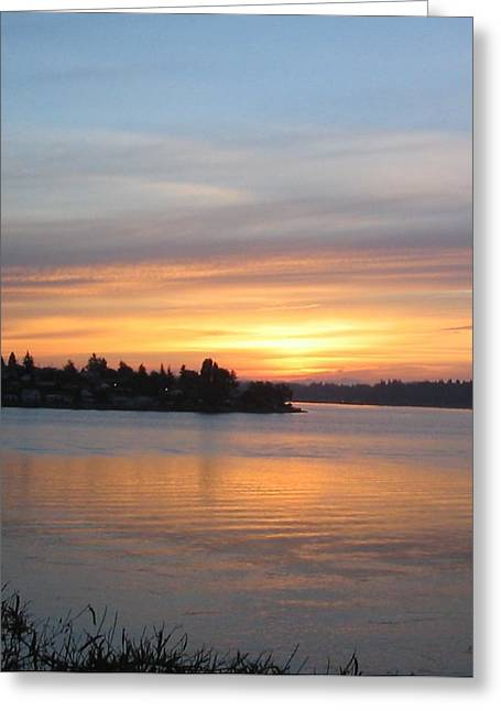 Manette Sunrise Greeting Card by Valerie Josi
