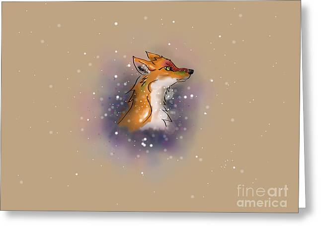Manga Fox Greeting Card