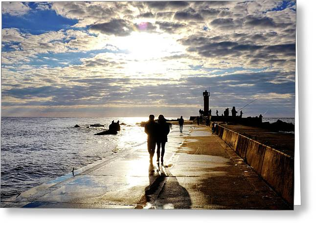 Greeting Card featuring the photograph Mangalsala Pier by Fabrizio Troiani