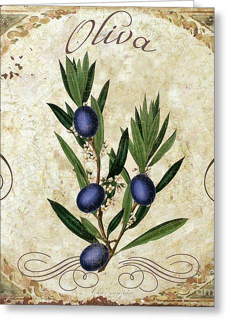 Mangia Olives Greeting Card by Mindy Sommers