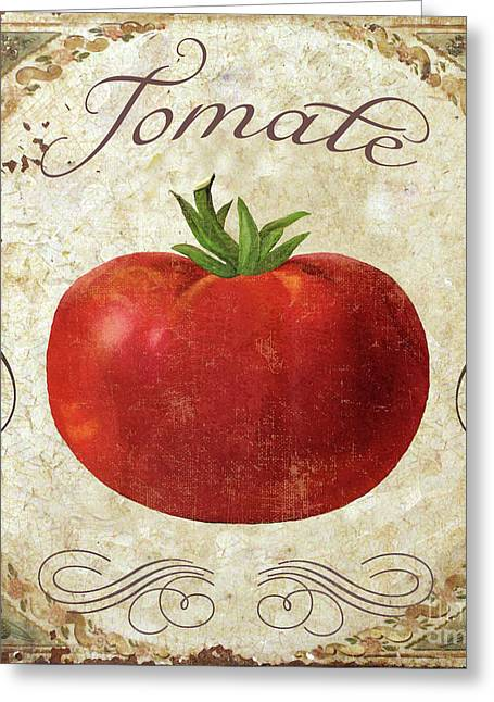 Mangia Tomato Greeting Card by Mindy Sommers