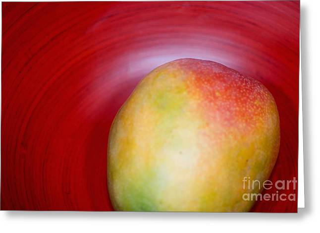 Mango Close-up Greeting Card by Ray Laskowitz - Printscapes