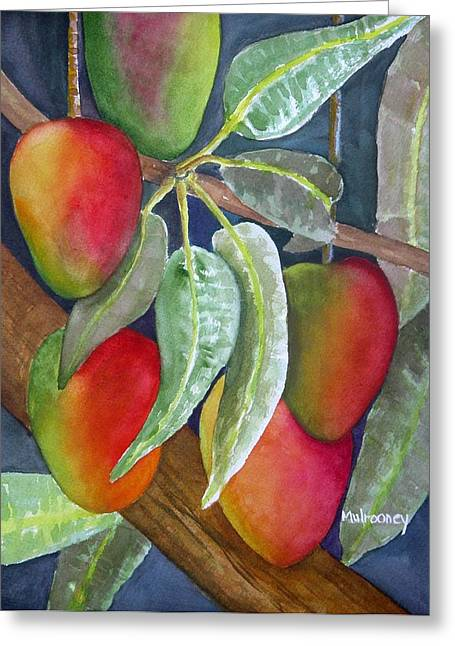 Mango Paintings Greeting Cards - Mango One Greeting Card by Terry Arroyo Mulrooney