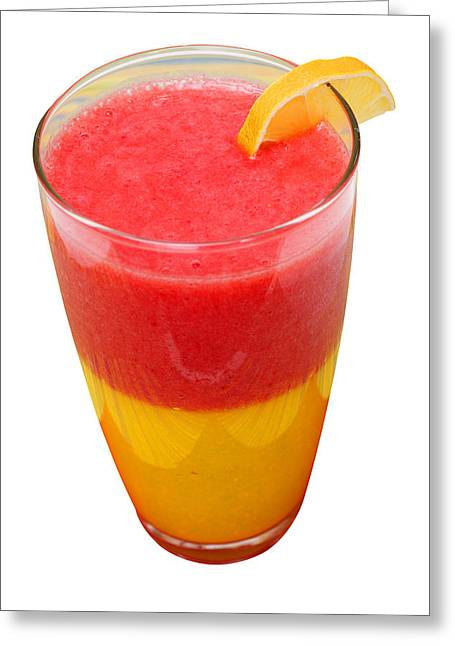Mango Strawberry Smoothie Greeting Card by Donald  Erickson