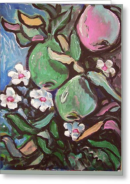 Mangoes And Blooms Greeting Card by Kevin Stonebraker