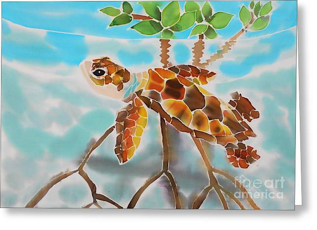 Mangrove Baby Turtle Greeting Card