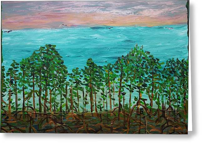 Mangrove Greeting Card by Peter Nervo