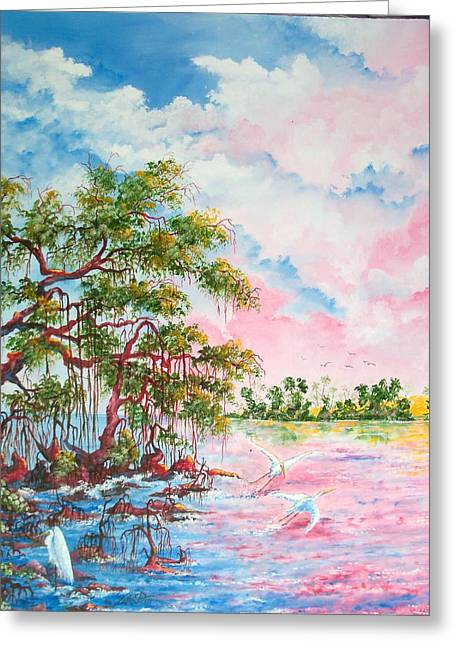 Mangroves Greeting Card by Dennis Vebert