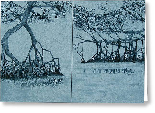 Mangroves Greeting Card by Leah  Tomaino