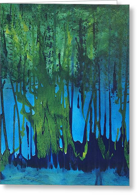 Mccoy Paintings Greeting Cards - Mangroves Greeting Card by Nickola McCoy-Snell