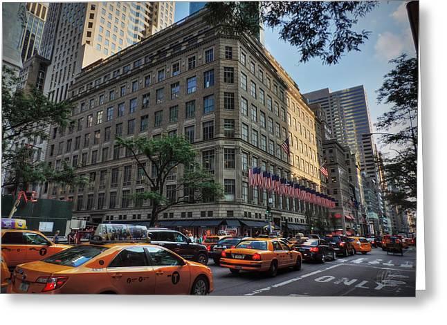 Manhattan - 5th Ave. 004 Greeting Card by Lance Vaughn