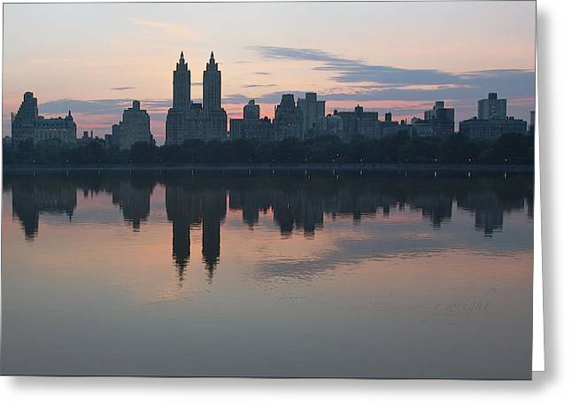 Manhattan At Night  Greeting Card
