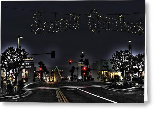 Manhattan Beach Christmas Greeting Card