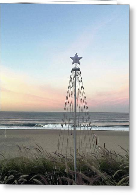 Manhattan Beach Christmas Star Greeting Card