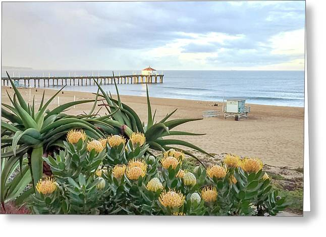 Manhattan Beach View Greeting Card