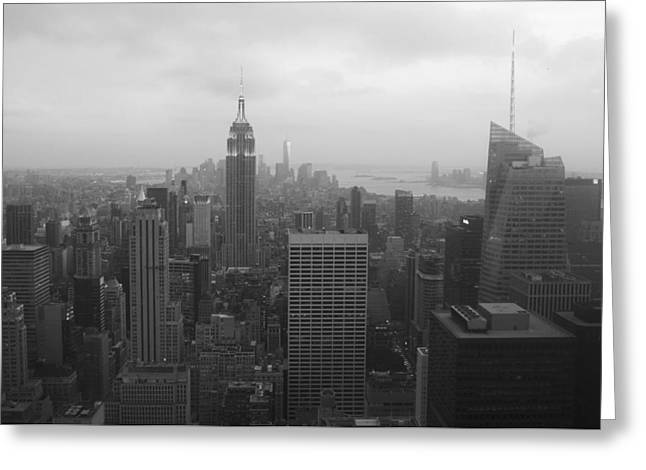 Manhattan Black And White Greeting Card
